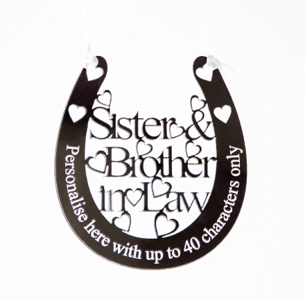 Personalised Wedding Horseshoe Sister & Brother in Law SB1